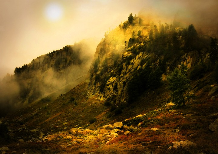 Alpine Mist at Dawn